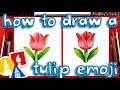 How To Draw The Tulip Emoji 🌷