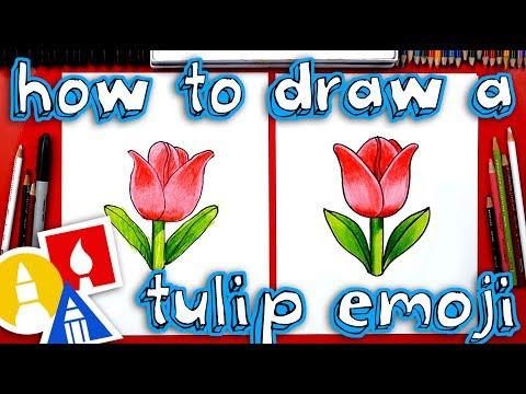 How To Draw The Tulip Emoji