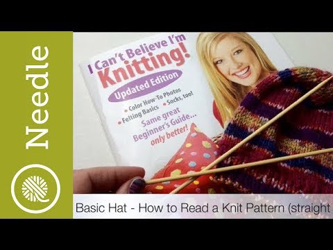 Pattern Reading 201 | Knit | Basic Hat on straight needles by Leisure Arts