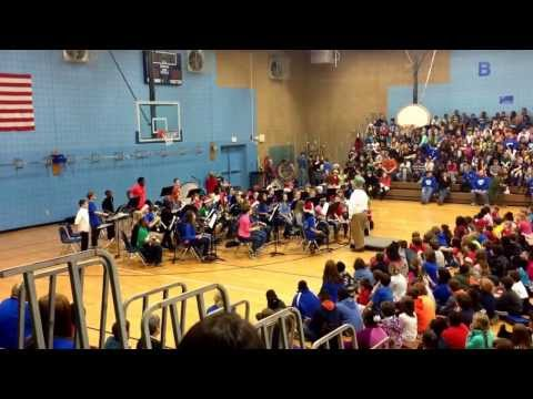 Carl Stuart Middle School Beginner Band Christmas Concert 2013. Conway, Arkansas.