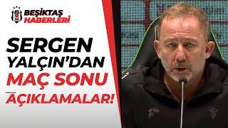 Sergen Yalçın'dan Maç Sonrası 'Yeni Sözleşme' Açıklaması! (Konyaspor (2) 1-1 (3) Beşiktaş)