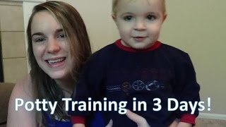 Potty Training in 3 Days!!! (19 Months Old)