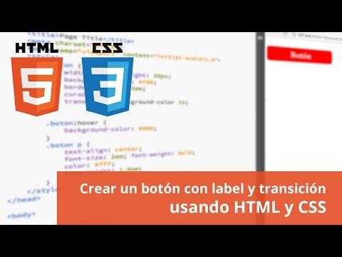 Crear Un Botón Con HTML Y CSS
