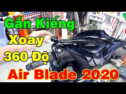 Kiếng Xoay 360 Độ Cho Xe Air Blade 2020   Hướng Dẫn Gắn Kiếng Xoay 360 Độ Thật Đơn Giản