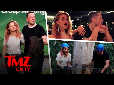 Amber Heard and Elon Musk Go Ziplining | TMZ TV