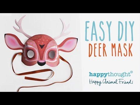 Printable deer mask template + easy diy costume idea!