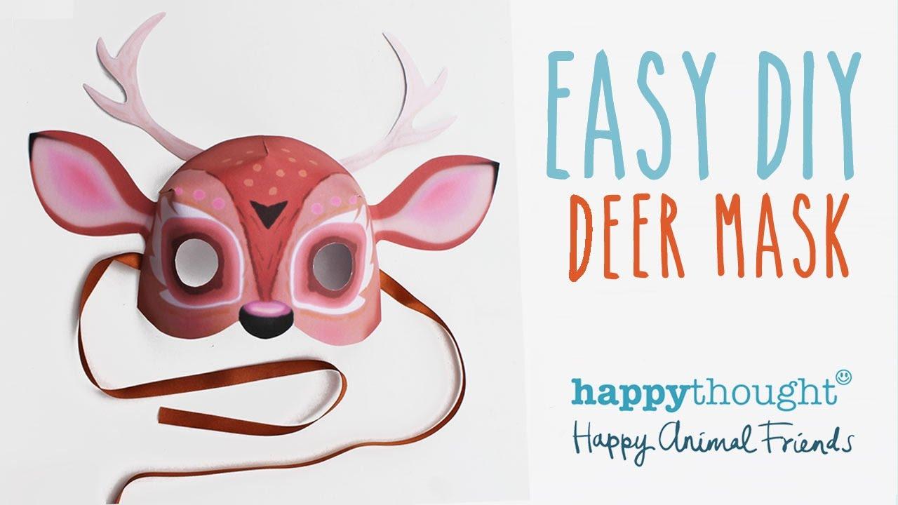 Printable Deer Mask Template Easy Diy Costume Idea