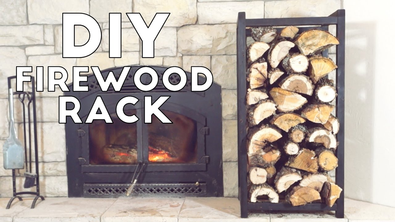 Fireplace Holder Build A Simple Modern Indoor Fire Wood Rack | Modern
