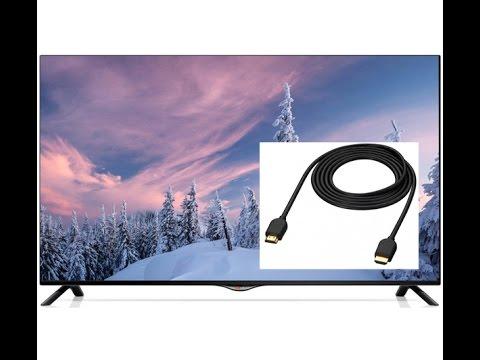 Подключение компьютера к телевизору LG через HDMI кабель