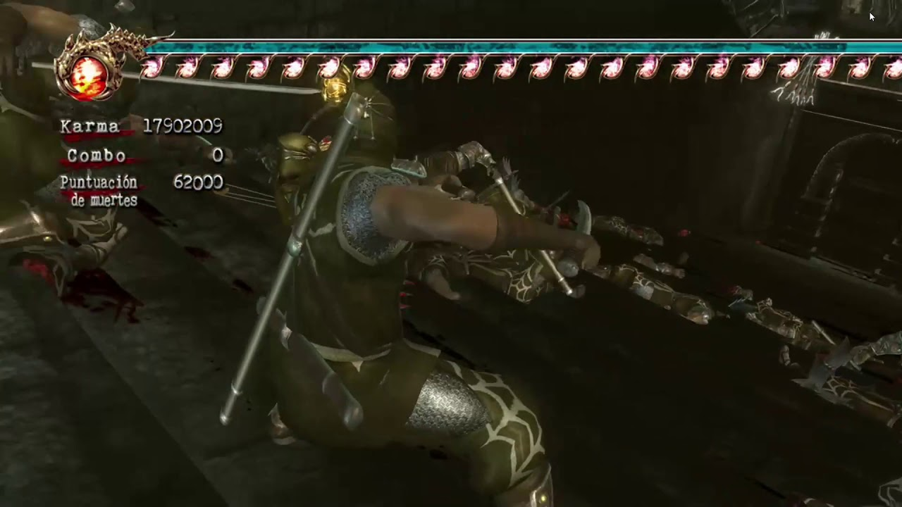 Ninja Gaiden 2 Xbox 360 Cheats Pasillo Cap 10 Garras Del Halcon Youtube