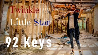 """Twinkle Twinkle """"Little Star"""" (instrumental) - Violin and Piano Cover by 92 Keys"""