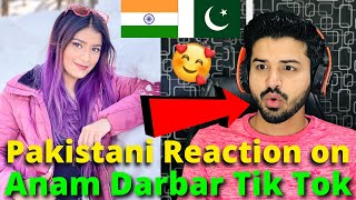 Pakistani React on Anam Darbar Latest TIKTOK VIDEOS | Indian TikToker | Reaction Vlogger