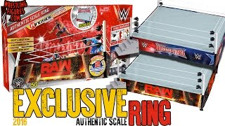 wwe figure insider wwe authentic scale wrestling ring 2016 exclusive w raw wm 32 ring skirts