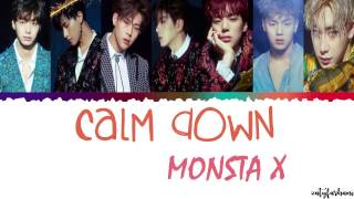 [2.84 MB] MONSTA X (몬스타엑스) - CALM DOWN Lyrics [Color Coded Han Rom Eng]