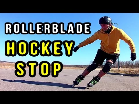 How I Learned the ICE HOCKEY STOP on Inline Skates