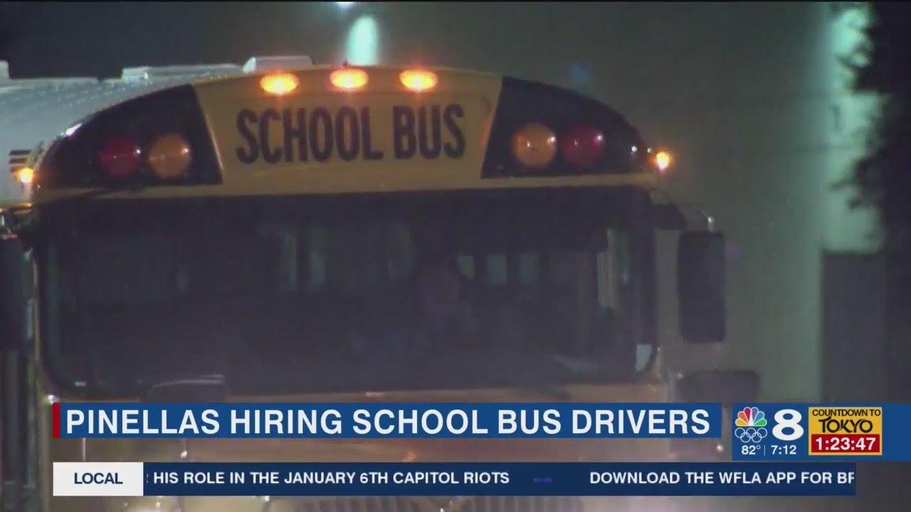 Pinellas County Schools hiring bus drivers, school bus assistants