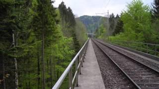 Repeat youtube video Doppelspur Schachen West SOB - Schweizerische Südostbahn AG, Herisau