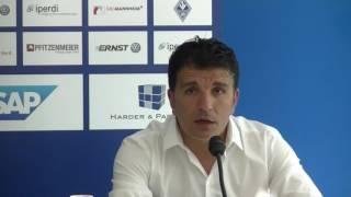 Pressekonferenz SV Waldhof - SV Saar 05