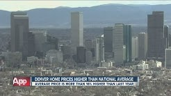 Denver home prices higher than national average
