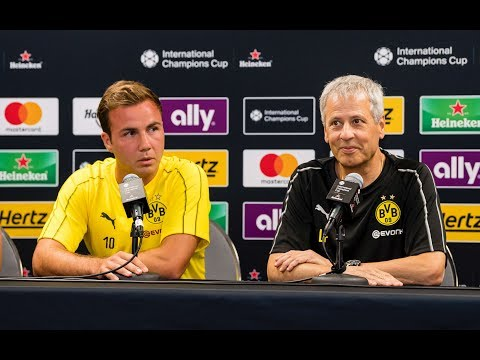 BVB-Pressekonferenz mit Lucien Favre und Mario Götze