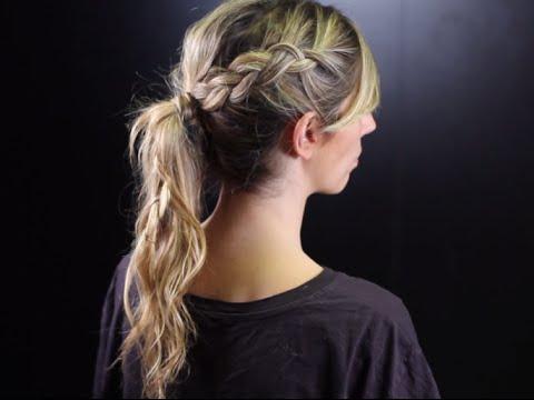 Peinados de coleta alta con trenza