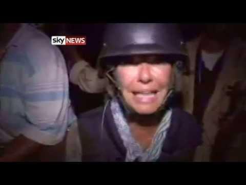 Alex Crawford of Sky News as rebels enter heart of Tripoli