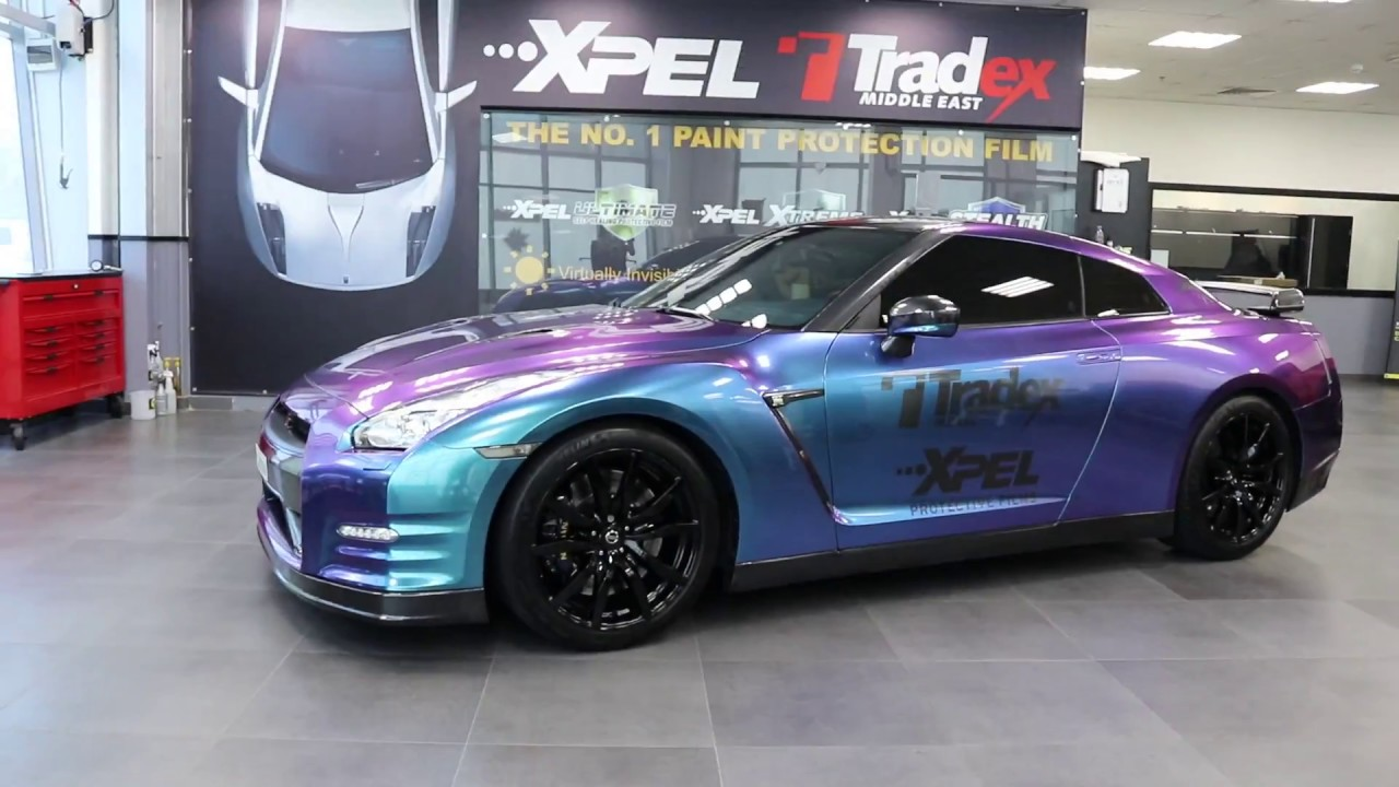 Nissan Gtr Chameleon Wrapping Complete Youtube