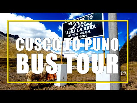 Route of the Sun Bus Tour from Cusco to Puno Peru with InkaExpress with kids.