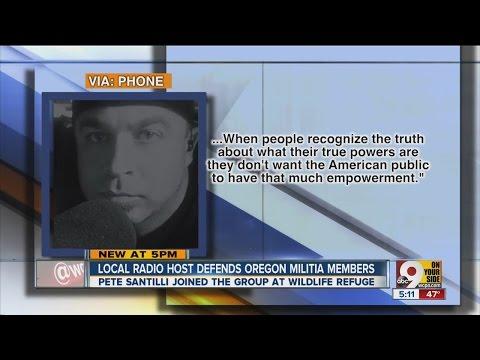 Local radio host Pete Santilli defends Oregon militia in takeover