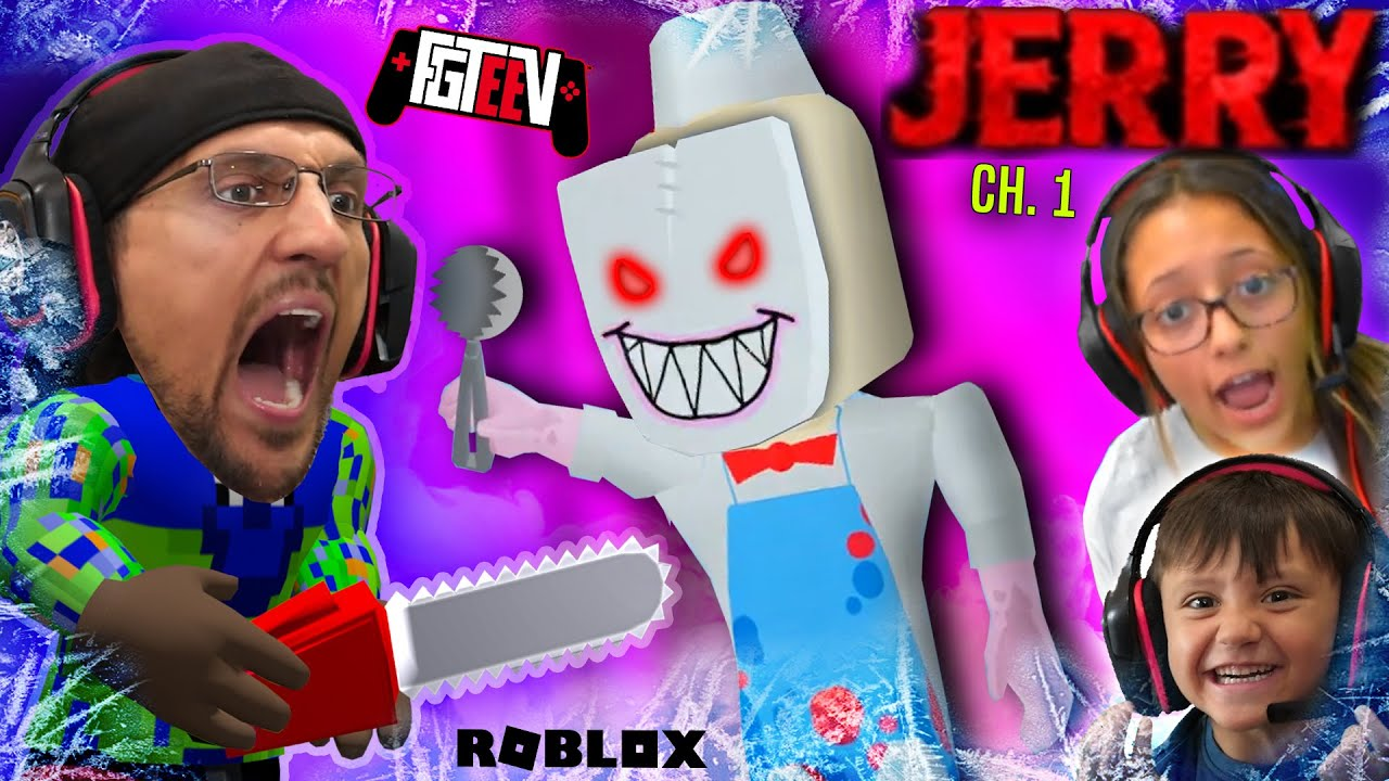 ESCAPE ROBLOX JERRY the Ice Scream Man! (FGTeeV in Cold Storage Ch 2)
