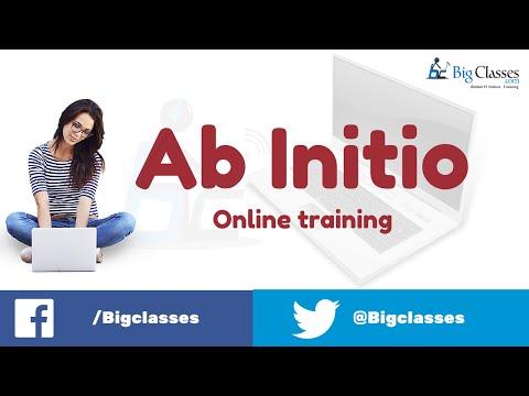 AB Initio Online Training - AB Initio Tutorials For Beginners - BigClasses