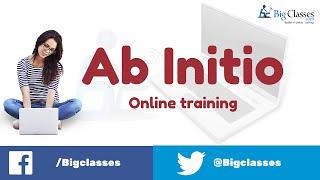 BigClasses yeni Başlayanlar için AB İnitio Online Eğitim - AB İnitio Eğitimleri -