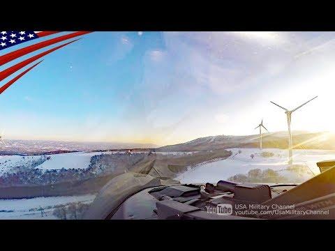 【ど迫力】岩手県内で超低空飛行訓練をする米軍F-16戦闘機のコックピット映像