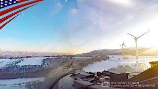 日本の山間部を超低空飛行するF-16戦闘機【コックピット映像】