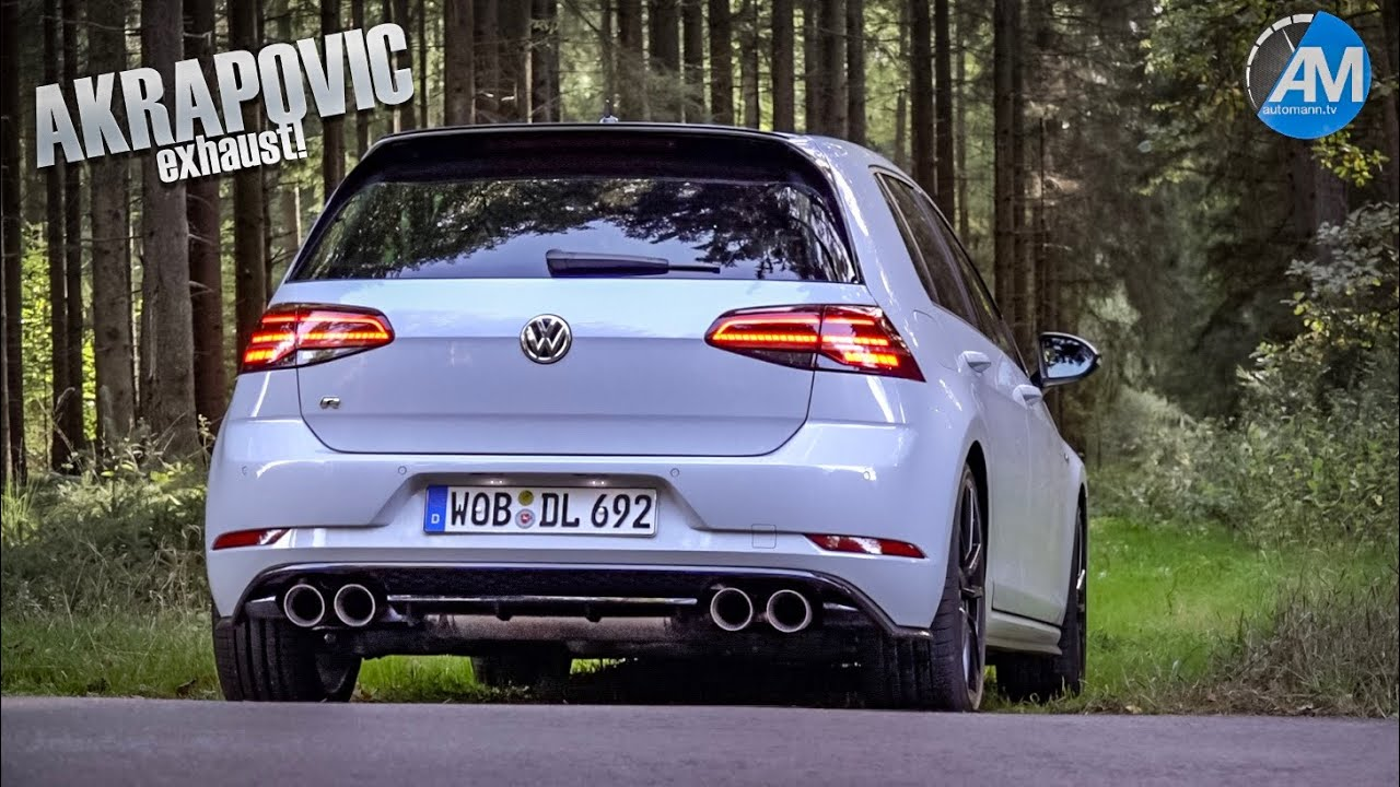 golf 7 r facelift akrapovic pure sound youtube. Black Bedroom Furniture Sets. Home Design Ideas