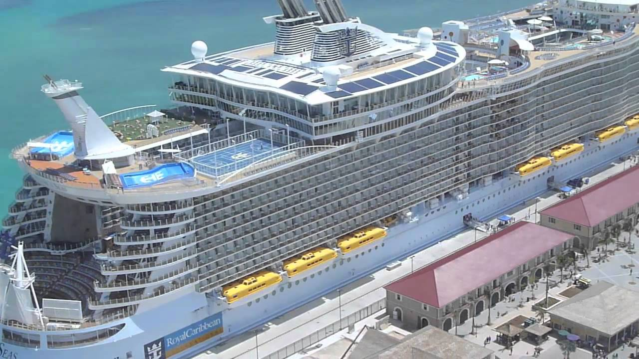 Allure Of The Seas From The Air Youtube