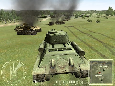 "T-34 против «Тигра» ч.3 - ""T-34 Vs Tiger Tank"" Прохождение игры: ч.3 Ловушка на Тигра"
