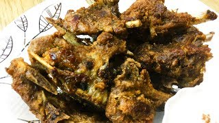 HOW TO GRILL SMOKEY CHOPS WITHOUT OVEN - CHAMP WITH ZEERA RAITA RECIPE