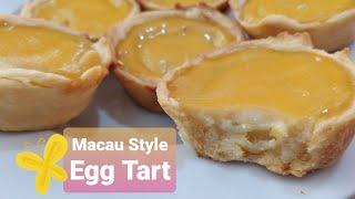 Macau Style Egg Tart | Homemade Creamy Tart | Mey Mik
