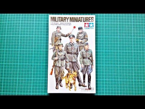 Inbox Review - Tamiya Kit #35320, German Military Field Police Set
