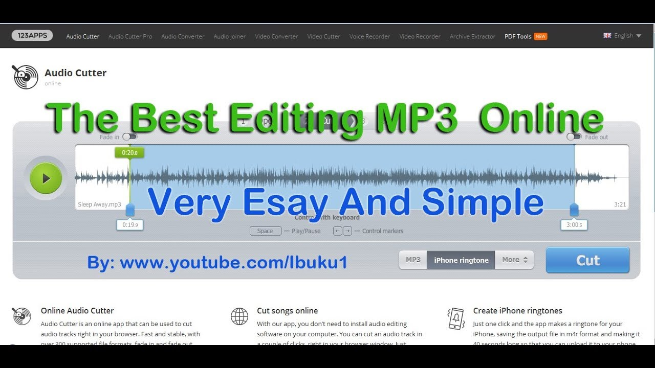 Best Audio Editor Online Mp3 Cutter Very Simple Youtube