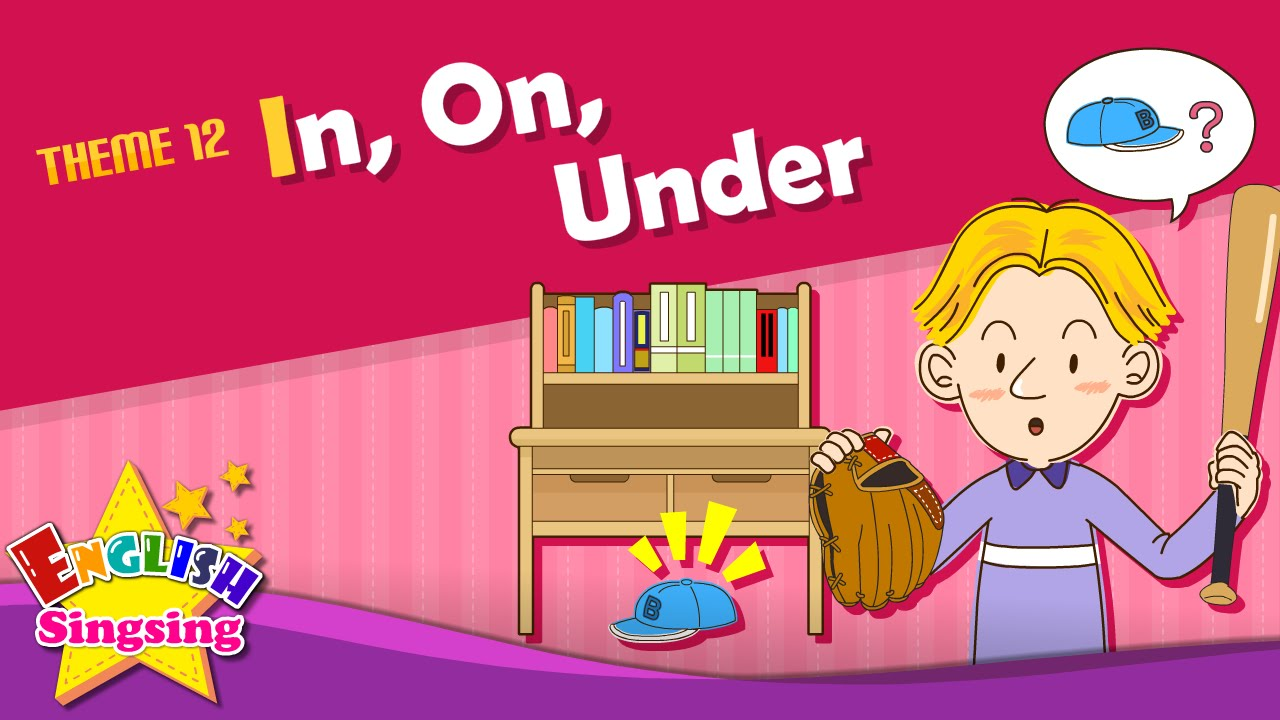 Theme 12. In, On, Under - It is under the table. | ESL ...