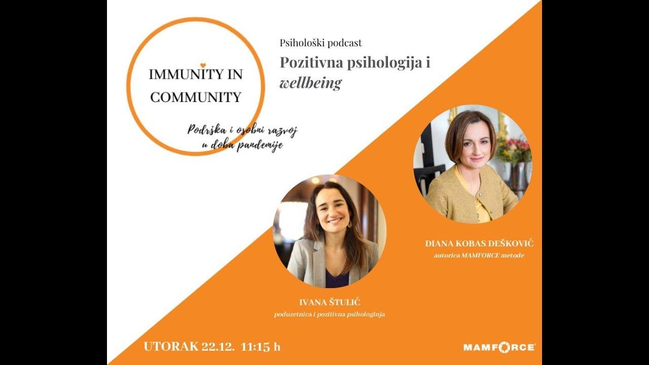 Immunity in Community - Psihološki podcast - Pozitivna psihologija i wellbeing - Ivana Štulić