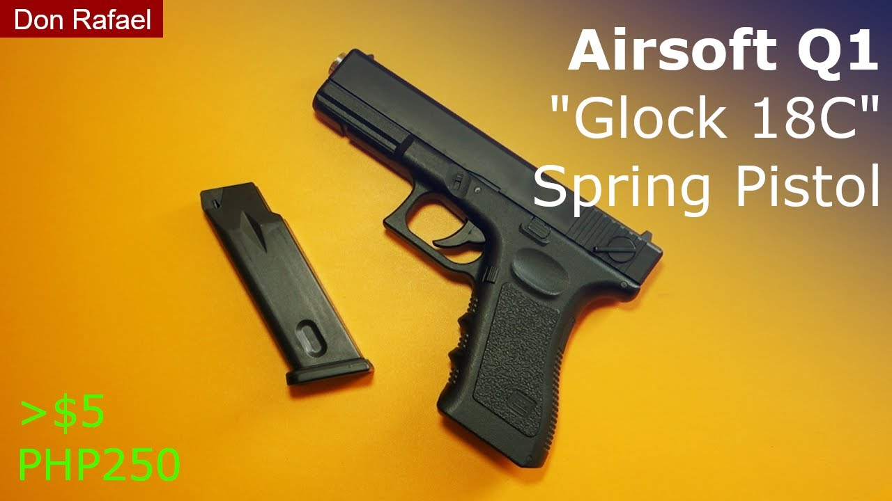 Download Airsoft Q1 Glock 18C Spring Pistol