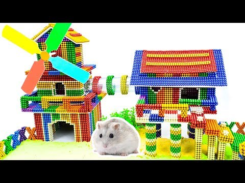 DIY - Build Amazing Hamster Playground House With Magnetic Balls (Satisfying) - Magnet Balls