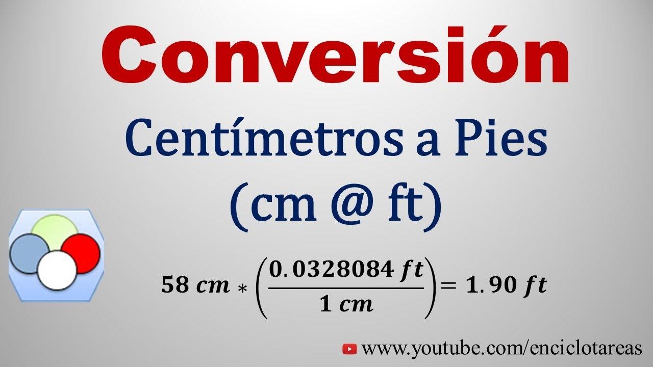 Convertir de Centimetros a Pie (cm to ft) #1 - YouTube