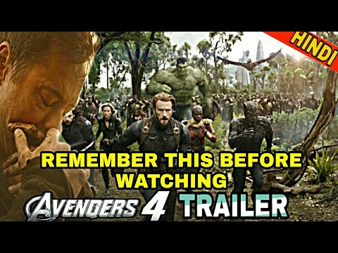 AVENGERS 4 TRAILER | THINGS THAT MARVEL WILL HIDE AND REVEAL  (IN HINDI)