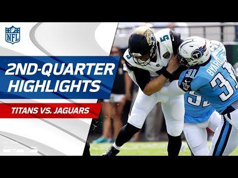 Defenses Dominate in Second Quarter of Titans vs. Jaguars Game | NFL Wk 2 Highlights