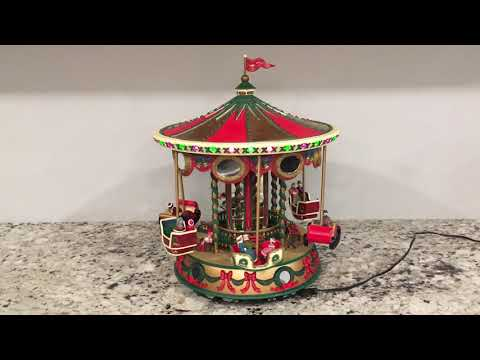 Mr. Christmas holiday fair collectibles musical carousel (year round songs)