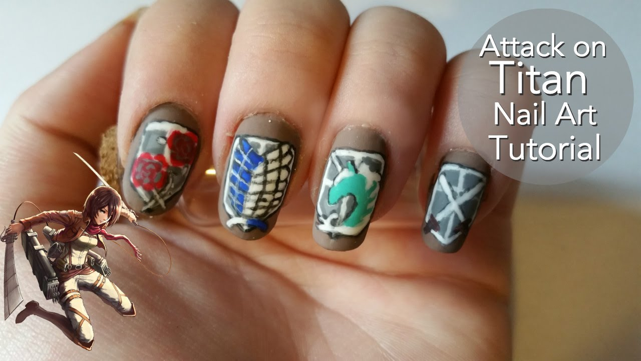 - Attack On Titan Nail Art Tutorial - YouTube